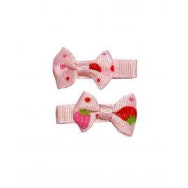 Зажим для волос розовый (2 шт.)