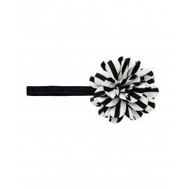 Повязка с полосатым цветком черная