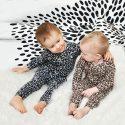 """Штанишки с рисунком """"Леопард"""" серые"""