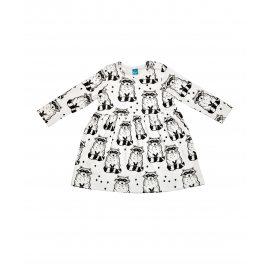 Трикотажное платье с веселыми енотами