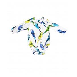 Боди с попугаями унисекс