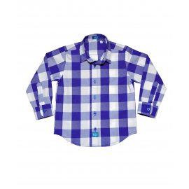 Рубашка в клетку голубая