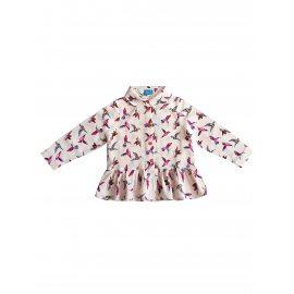 Блузка-туника с птицами