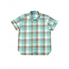 Рубашка с коротким рукавом бирюзовая