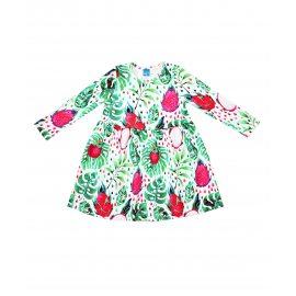 Платье с экзотическими фруктами