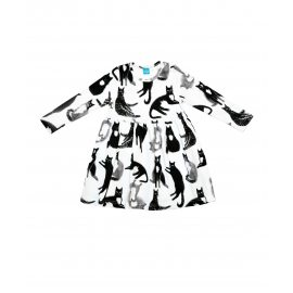 Платье с кошками